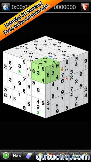 Sudoku 3D ekran görüntüsü