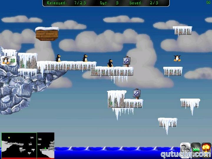 Pingus ekran görüntüsü