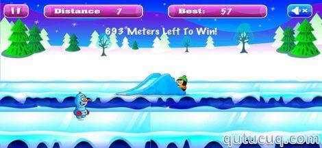 Frozen Snowman Run ekran görüntüsü