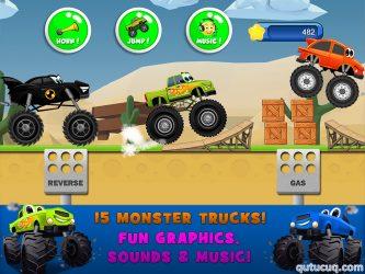 Monster Trucks Game for Kids 2 ekran görüntüsü