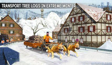 Snow Dog Sledding Transport 3D ekran görüntüsü