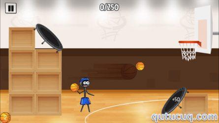 Stickman Trick Shot Basketball ekran görüntüsü