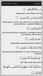 Qurani-Kərim Azərbaycanca ekran görüntüsü
